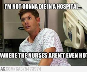 supernatural, funny, and hospital image
