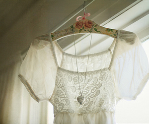 white, dress, and lace image