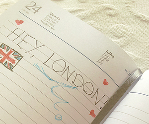 london, hey, and notebook image