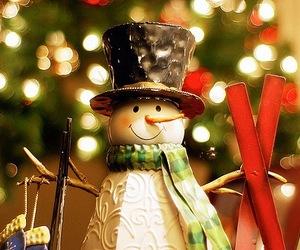 christmas, snowman, and light image