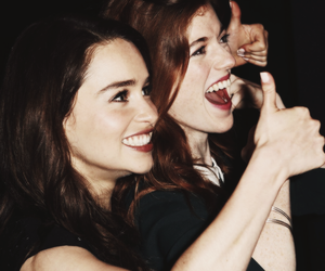 emilia clarke, rose leslie, and game of thrones image