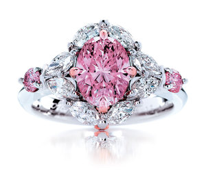 jewellery, pink, and bague rose bijoux femme image