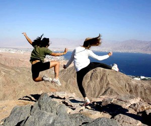 friendship, israel, and jump image