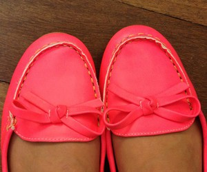 pink, shoes, and mocassim image