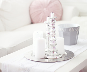 white, room, and candle image