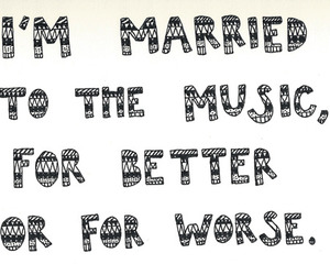 music, married, and quote image