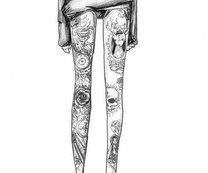 tattoo, legs, and drawing image