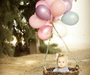 baby, balloons, and cute image