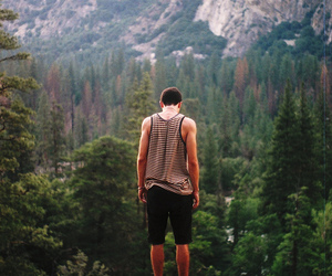 boy, nature, and mountains image