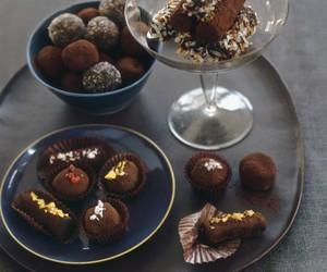 chocolate, brandy, and truffles image
