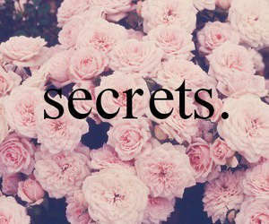 secret, flowers, and rose image