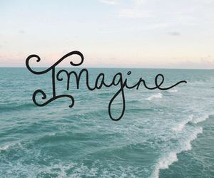 imagine, beach, and quote image