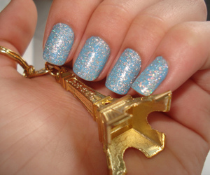 nails, blue, and paris image