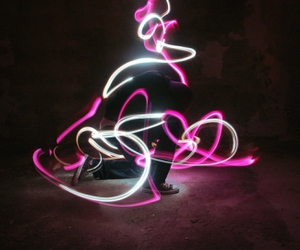 boy, dance, and lights image