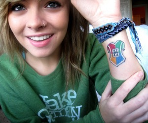 girl, tattoo, and harry potter image