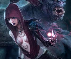 dragon age and morrigan image