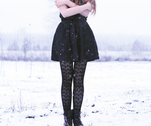 snow, cold, and girl image