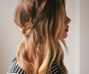 blonde, ombre, and plait image
