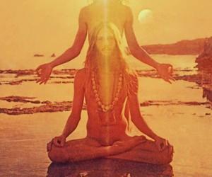 hippie, sun, and peace image