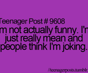 mean, quote, and teenager post image