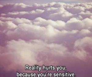 hurt, quote, and reality image