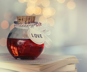 love, book, and red image