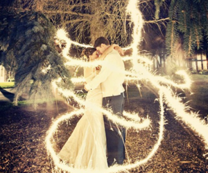 bride, fire, and wedding image