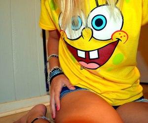 fashion, laugh, and spongebob image
