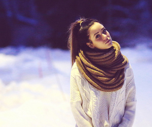 girl, fashion, and scarf image