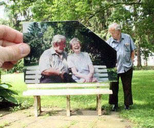 bench, elderly, and park image