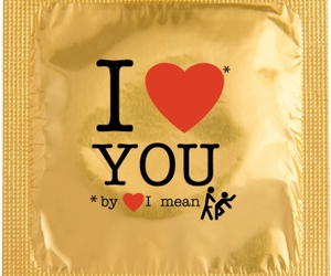 condom and love you image