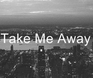away, city, and take image