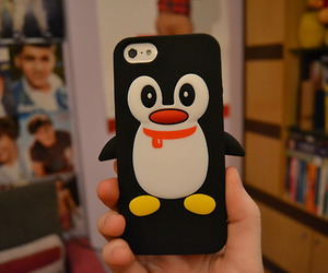 penguin, case, and iphone image