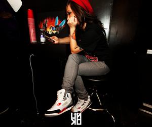 girl, swag, and jordan image
