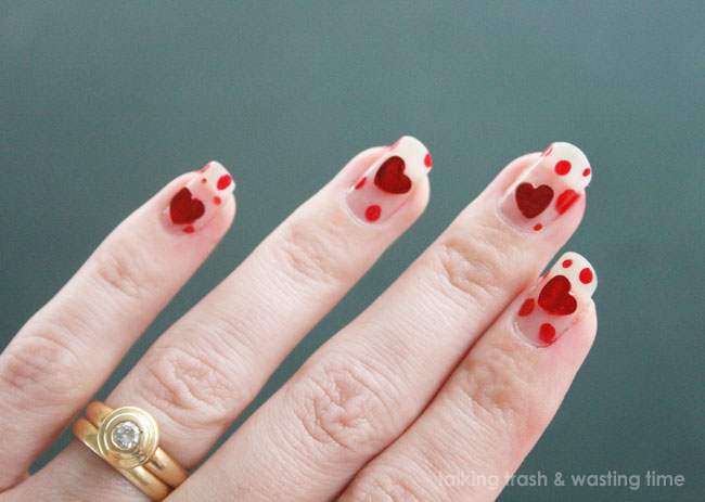 Talking Trash Wasting Time Infectious Love Nail Art Design