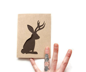bunny, card, and cards image