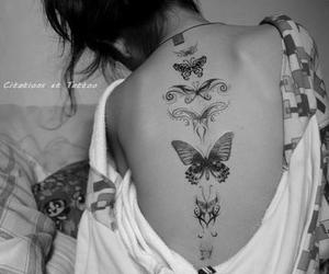 black and white, girl, and ink image