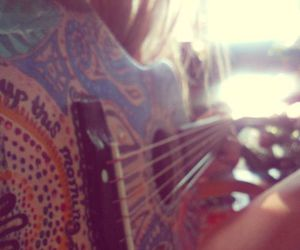 guitar, hippie, and music image