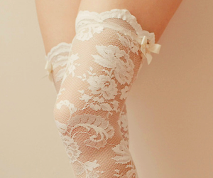 lace, white, and sexy image