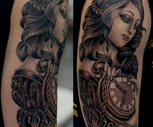 compass, tattoo, and valerie vargas image