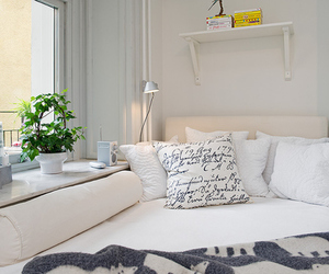 bedroom, blue, and fresh image