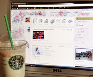 tumblr, starbucks, and laptop image