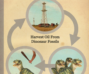 dinosaurs, fossil fuels, and fake science image