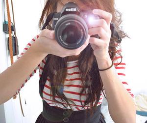 camera, girl, and nikon image