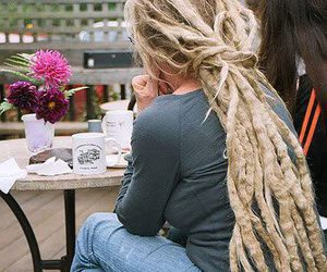 blonde and dreads image