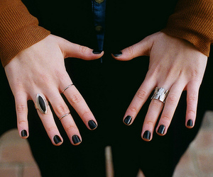 girl, nails, and vintage image
