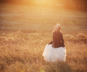 dancing, sunset, and dress image