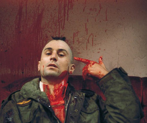 taxi driver, robert de niro, and blood image