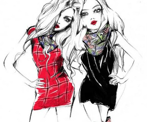 black, fashion, and drawing image
