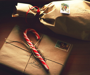 candy cane, christmas, and presents image